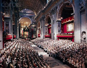 Second Vatican Council in session