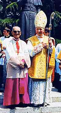 Archbishop Lefebvre and Bishop de Castro Mayer after 1988 Episcopal Consecrations