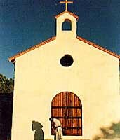 The exterior of the chapel at Our Lady of Guadalupe Monastery